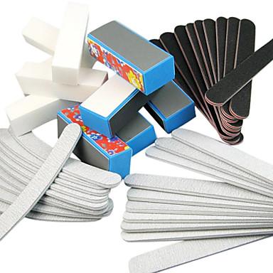 40pcs 5 Tipuri de Nail Art Fișiere & tampon blocuri (tipuri de flori) Set manichiura pentru unghii acrilice