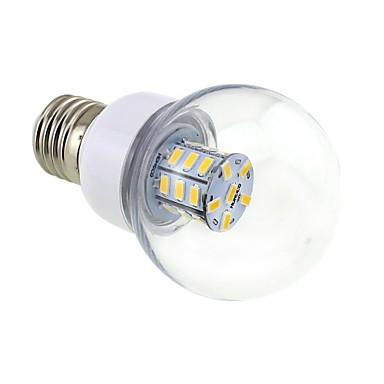 4W 3000-3500 lm E26/E27 LED Globe Bulbs G60 27 leds SMD 5730 Warm White DC 24V AC 24V AC 12V DC 12V
