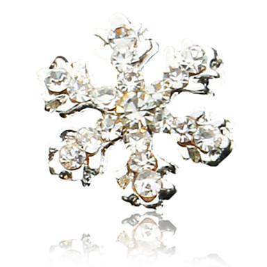 10PCS Snowflake Design Rhinestone Studded Nail Art Decorations