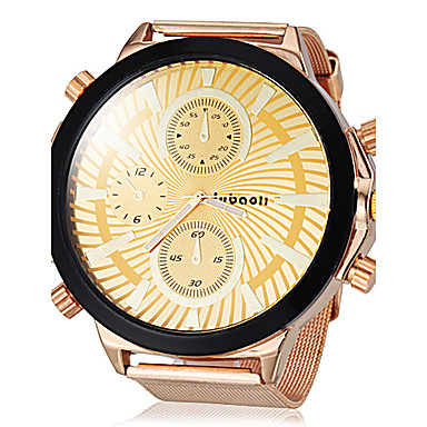 JUBAOLI Men's Quartz Wrist Watch Hot Sale Alloy Band Charm Gold