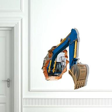 Decals 3D Excavator de perete autocolante de perete