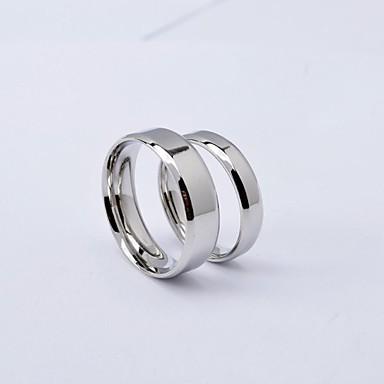Pánské Dámské Snubní prsteny minimalistický styl Evropský Titanová ocel Kulatý Šperky Denní Ležérní