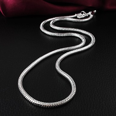 Brand Design Fashion Brass Silver Plated  Women's Necklace