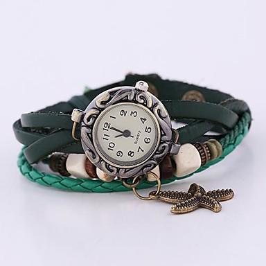 Damen Armband-Uhr Armbanduhren für den Alltag Leder Band Böhmische / Modisch Grün / Ein Jahr / SODA AG4