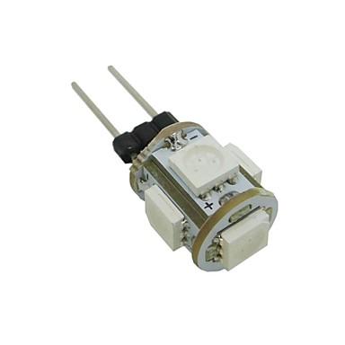 abordables Ampoules électriques-0.5 W Ampoules Maïs LED 35-45 lm G4 T 5 Perles LED SMD 5050 Blanc Chaud Blanc Froid Bleu 12 V / RoHs