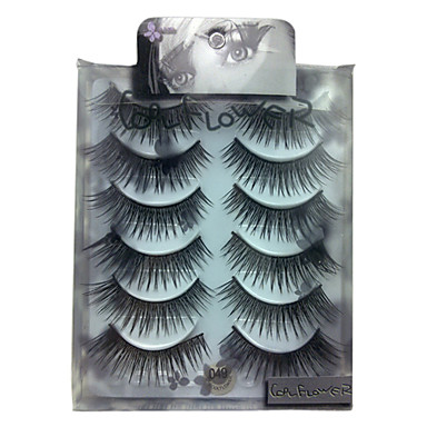 6 pairscoolflower false eyelashes 049# Cosmetic Beauty Care Makeup for Face
