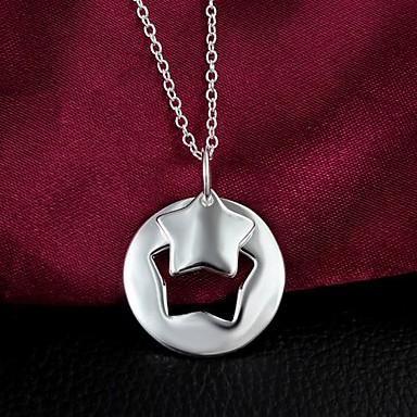 vedhæng halskæder forsølvet bryllup / fest smykker elegant stil