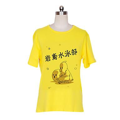 geinspireerd door Free! Nagisa Hazuki Anime Cosplaykostuums Cosplay T-shirt Print Korte mouw T-shirt Voor Mannelijk