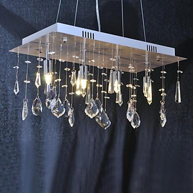 QINGMING® Traditionell-Klassisch Kronleuchter Moonlight - Kristall, 110-120V 220-240V, Wärm Weiß, Inklusive Glühbirne