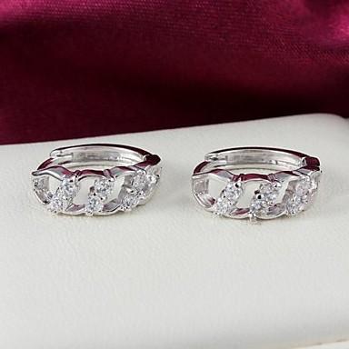 Svatební mosaz postříbřená s Náušnice Cubic Zirconia dívčí (více barev)