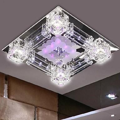 Modern/Contemporan Cristal LED Montaj Flush Lumină Spot Pentru Dormitor Sufragerie Coridor Alb Cald Alb Bec Inclus
