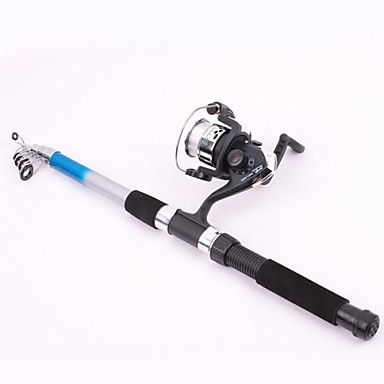 cheap Fishing Rods-Casting Rod Fishing Rod Fishing Rod and Reel Combo Casting Rod 210 cm Fibre Glass Medium Light (ML) Sea Fishing