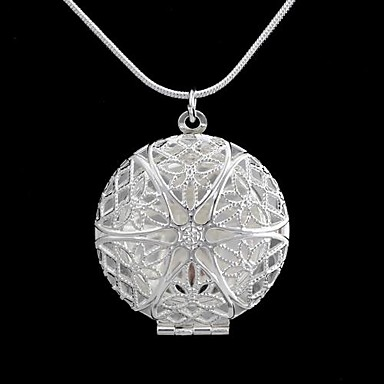 Women's Lockets Necklaces Circle Geometric Alloy Fashion Hollow Jewelry For Daily Casual 1pc