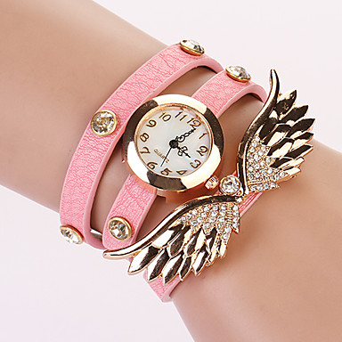 Koshi 2014 Women's Angel Wing 3Round Diamonade Watch (PINK)
