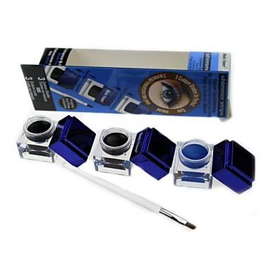 Eyeliner Cream Wet Black / Brown / Blue Eyes 3pcs 3