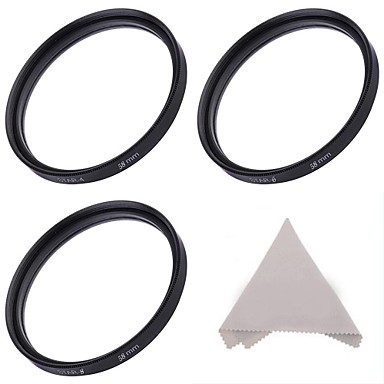 58mm zvijezda filteri :4-point, 6-točka, a 8-točka zvjezdice filteri + Krpa za čišćenje
