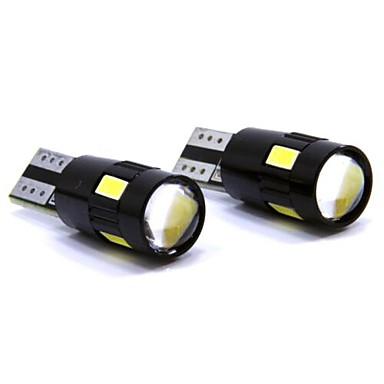 SO.K T10 Car Light Bulbs 3W W SMD 5630 150lm lm 6 LED Interior Lights