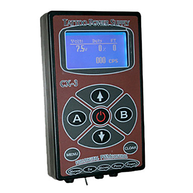 CX-3 Digital Control Tattoo Power Supply with Adapter