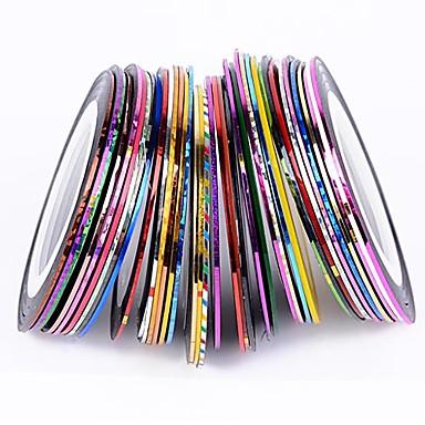 38Pcs Mixed Colors Rolls Striping Tape Line Nail Art Decoration Sticker