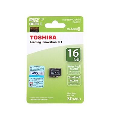 TOSHIBA 16GB Class10 UHS-1 MicroSDHC TF Memory Card 30MB/s Waterproof