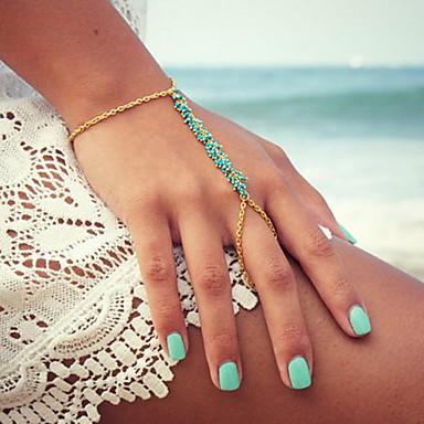Damen Bettelarmbänder Ring-Armbänder - Harz Einzigartiges Design, Modisch Armbänder Gold Für Party Alltag Normal
