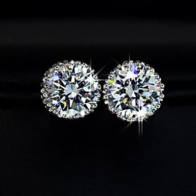 XINXIN Women's Fashion 18K Gold Plated White Cubic Zirconia Earrings