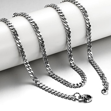 Men's Taste Sides Grinding Twist Chain Titanium Dteel Strands Necklace Jewelry Christmas Gifts