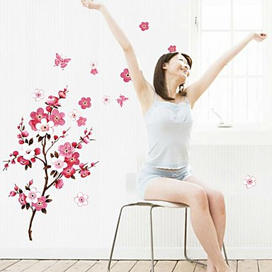 Doudouwo ® Florals The Beautiful Peach Blossom Wall Stickers