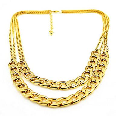 Simple Style Fashion Double-layer European Choker Necklace Layered Necklace Alloy Choker Necklace Layered Necklace , Party Daily Casual