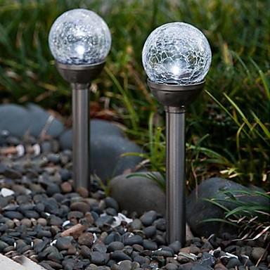 Set de 2 Color Schimbarea Solar YouTube Sticlă Ball Miza lampă Light Garden