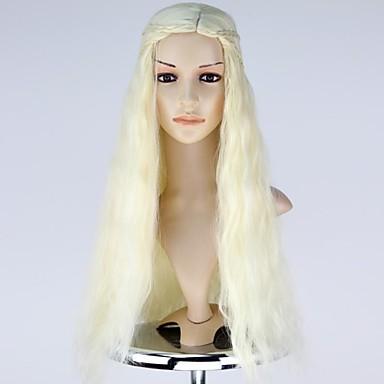 Cosplay Costumes New Movie Thrones Daenerys Targaryen Long Wavy Cosplay Wig with Braid