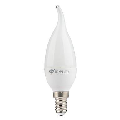 200 lm E14 Becuri LED Lumânare CA35 7 led-uri SMD 3528 Alb Rece AC 220-240V
