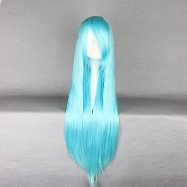 Cosplay Wigs Cosplay Cosplay Blue Long Anime Cosplay Wigs 80 CM Heat Resistant Fiber Female