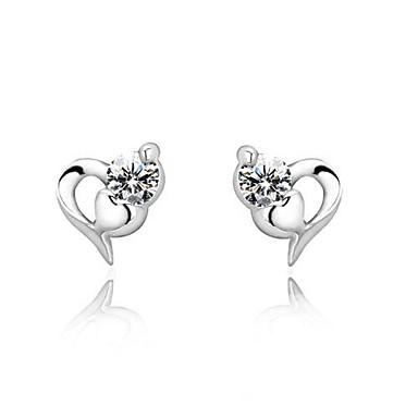 Oorknopjes Sterling zilver Kubieke Zirkonia Zilver Sieraden Zilver Bruiloft Feest Dagelijks Causaal Kostuum juwelen