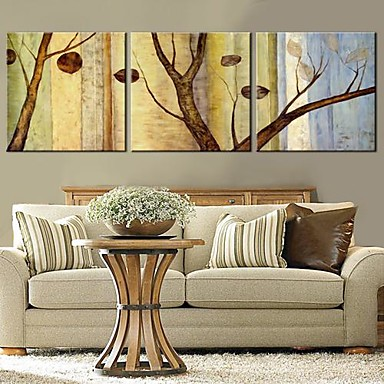 Stretched Canvas Art Trees And Leaves Set of 3