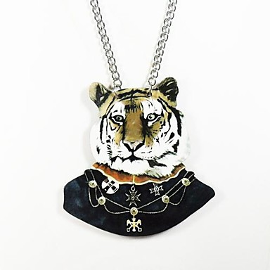 Pendant Necklace Stainless Steel Wood Pendant Necklace , Daily Casual Sports