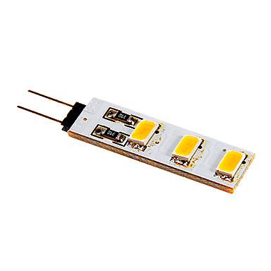 80-100lm G4 LED betűzős izzók 6 LED gyöngyök SMD 5050 Meleg fehér Hideg fehér 12V