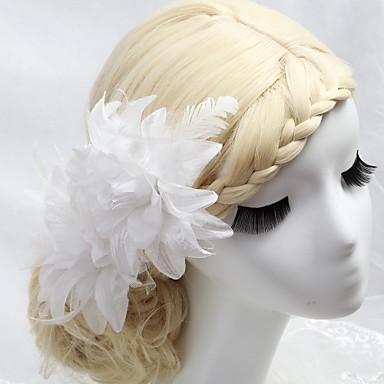 abordables Coiffes-Cristal / Plume / Tissu Diadèmes / Peignes / Fleurs avec 1 Mariage / Occasion spéciale / Fête / Soirée Casque