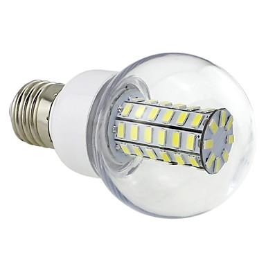 e26 / e27 led corn lyser g60 56 smd 5730 700lm kold hvid 6500k ac 220-240v