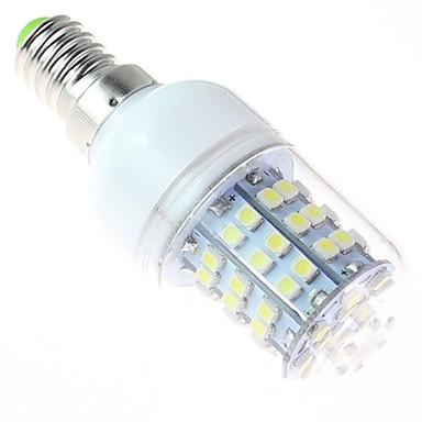 bílé světlo LED žárovka, E14 4w 60smd3528 5500-6500 220V