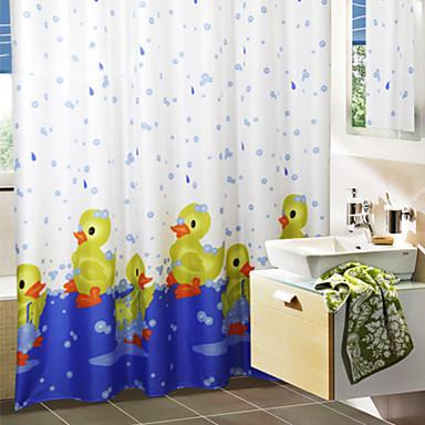 Nette Karikatur-Badeente Duschvorhang