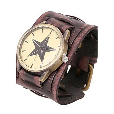 Bărbați Ceas de Mână Quartz Piele Bandă Maro