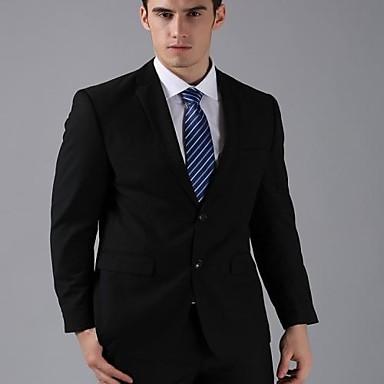 de dos botones negro mate delgado hombres casuales trajes de negocios traje  de boda formal hombres 4008a7bf0c7