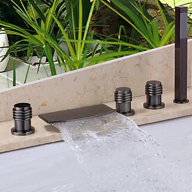 Badekarshaner - Moderne Olie-gnedet Bronze Badekar & Bruser Keramik Ventil / Messing / To Håndtag fem huller