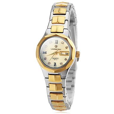 pentru Doamne Ceas La Modă Ceas de Mână Quartz Quartz Japonez Oțel inoxidabil Bandă Auriu Auriu Negru Auriu/Argintiu Auriu/Albastru