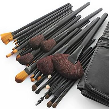 32pcs Makeup Bürsten Professional Bürsten-Satz- Ziegenhaarbürste / Pony Bürste / Künstliches Haar Mittelgroße Pinsel / Kleine Pinsel