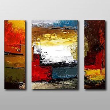 Pictat manual Abstract Orizontal, Clasic pânză Hang-pictate pictură în ulei Pagina de decorare Trei Panouri