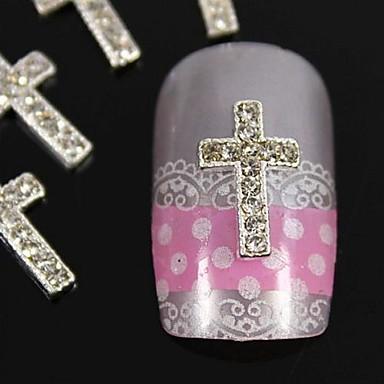 10 buc argint DIY decorare accesorii varfurile degetelor de trecere stras unghii