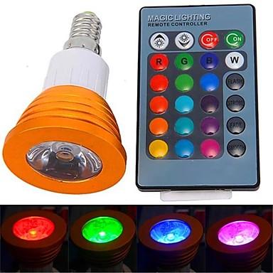 YWXLIGHT® 250-300 lm E14 Spoturi LED 1 led-uri LED Putere Mare Telecomandă RGB AC 85-265V