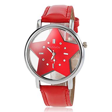 Жен. Модные часы Кварцевый PU Группа Мультяшная тематика Черный Белый Синий Красный Оранжевый Розовый